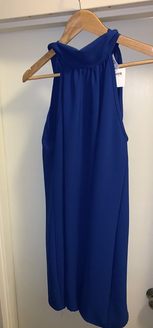 Royal Blue Dress from high end boutique. Never worn. SIZE L. $25 OBO for Sale in Leesburg, VA