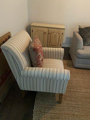 Blue Striped Arm Chair Set for Sale in Milton, FL