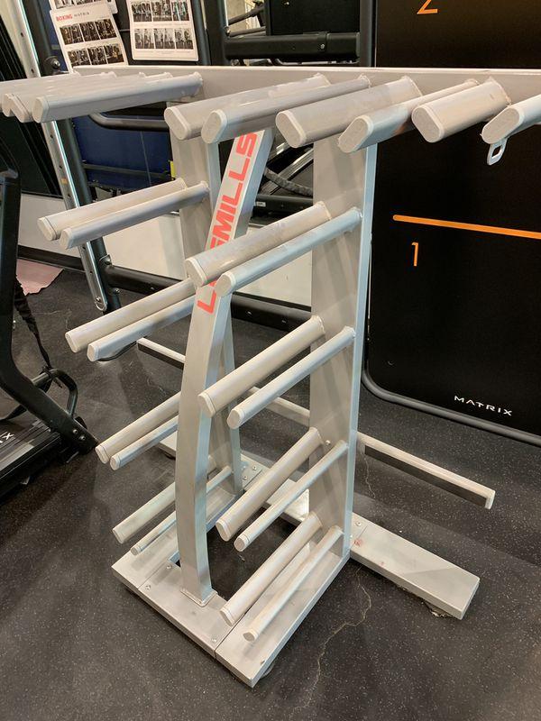 Les mills group class weight rack