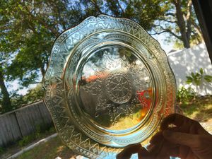 Patrician Amber Depression Glass dinner plates for Sale in Dunedin, FL
