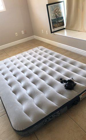 Queen size air mattress w air pump for Sale in Poway, CA