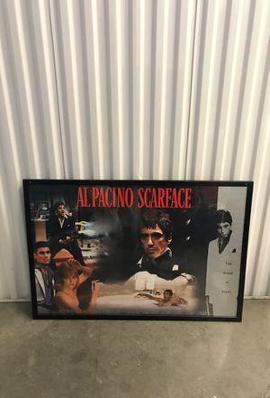 Al pacino framed poster for Sale in Miami, FL