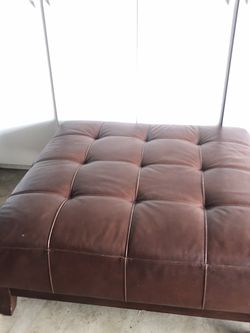 Square leather ottoman, coffee table for Sale in Garden Grove,  CA
