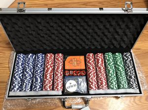 Poker chips 500 piece for Sale in Stockton, CA