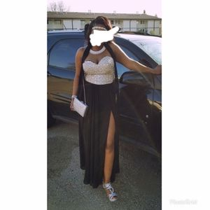 Silver and black prom dress for Sale in Milwaukee, WI