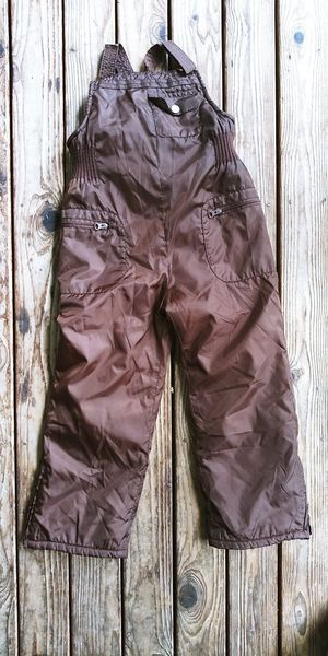 Old Navy girls size 5T brown bib overalls fleece lined snow pants for Sale in Tacoma, WA