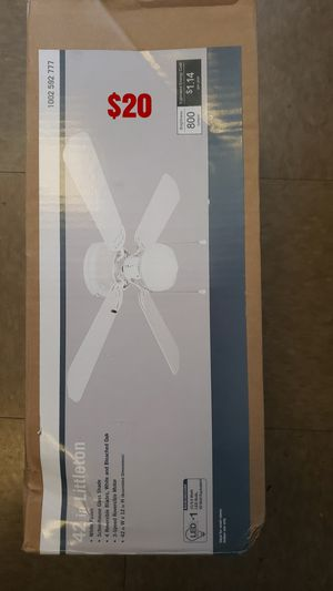 Littleton 42 in. LED Indoor White Ceiling Fan with Light Kit for Sale in North Las Vegas, NV