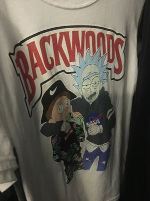 Backwoods rick and morty tee shirt for Sale in Nashville, TN