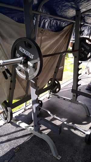 Gym Hoist rack/weights for Sale in National City, CA
