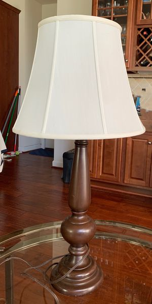"""Wood base tall lamp in good condition , 33"""" in height. for Sale in Falls Church, VA"""