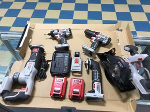 PORTER CABLE 20 VOLT MAX COMBO TOOL SET for Sale in Taylor, MI