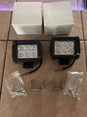 """2- NEW 18W Flood CREE LED Work Light Bar For Trucks Car Offroad 4"""" Long X 2"""" Wide for Sale in Fresno, CA"""