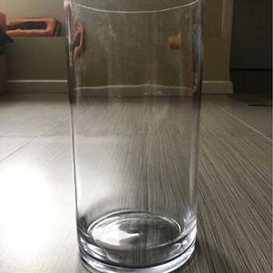 """Glass Cylinder Vase Height 10"""" Width 5"""" for Sale in Daly City, CA"""