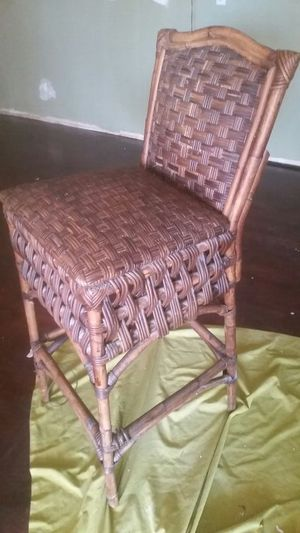 Bamboo / wicker bar stool - Very tall for Sale in Las Vegas, NV