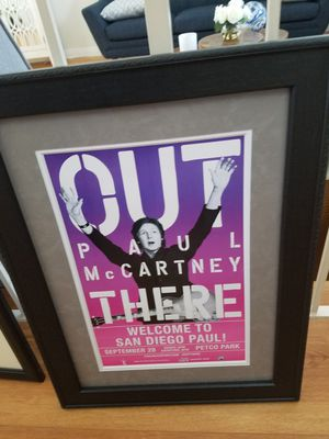 Paul McCartney framed poster for Sale in Poway, CA