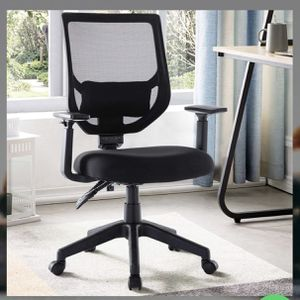 Mid Back Ergonomic Swivel Black Mesh Computer Chair Adjustable Height and Armrest with Lumbar Support Task Chair Rimiking Mesh Office Chair for Sale in City of Industry, CA
