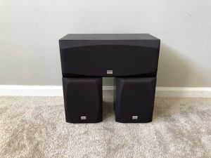 Onkyo 3 Home Theater Surround Speakers for Sale in Mount Prospect, IL