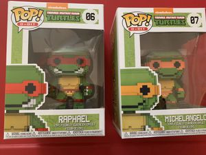 Funko Pop! Teenage Mutant Ninja Turtles Raphael & Michelangelo Bundle (both for $10) for Sale in Montebello, CA