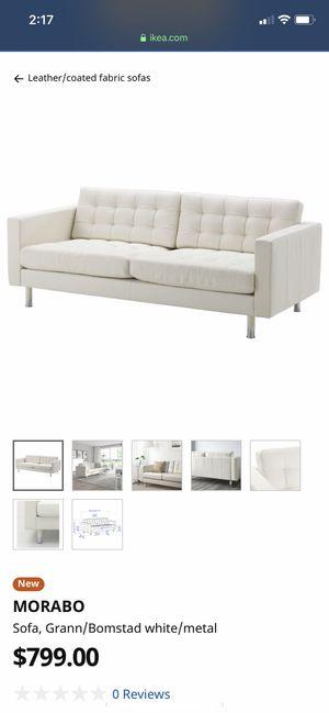 IKEA LEATHER COUCH WHITE for Sale in Atlanta, GA