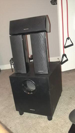 Four piece Onkyo surround sound system. for Sale in Austin, TX