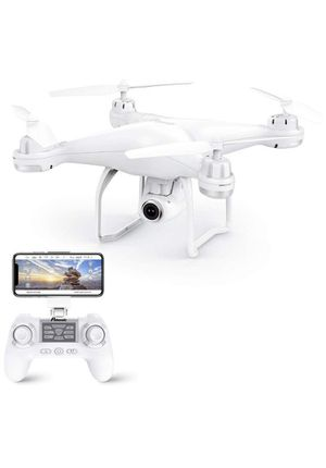 T25 GPS Drone, FPV RC Drone with Camera 1080P HD WiFi Live Video, Dual GPS Return Home, Quadcopter with Adjustable Wide-Angle Camera- Follow Me White for Sale in Rancho Cucamonga, CA