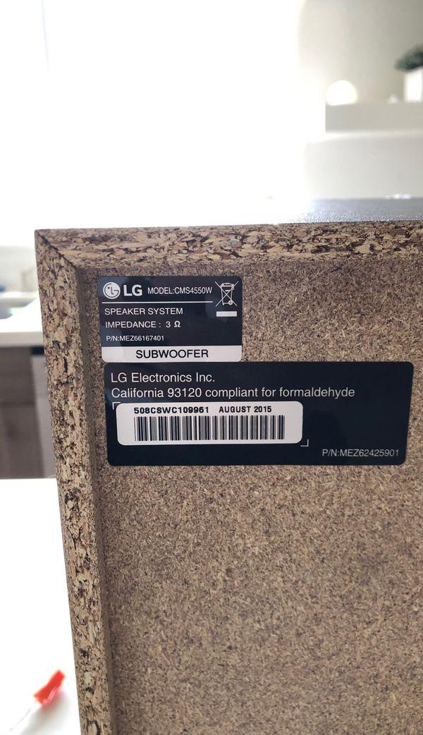 LG Electronics CMS4550W Universal Subwoofer LG Sub 3-Ohms 250-Watt (New)