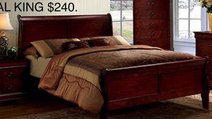 CAL KIN NUEVA EN SU CAKJA / no incluye colchón // CAL KING NEW IN BOX / ONLY BED FRAME for Sale in Visalia, CA