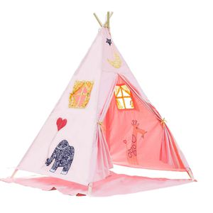 BATTOP Pink Kids Teepee Tent Cotton Canvas. No Pad or storage bag included for Sale in Miami, FL