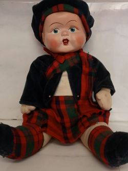 Vintage 1950's Hard Plastic Cloth Body Scottish Boy Doll for Sale in Troutdale,  OR