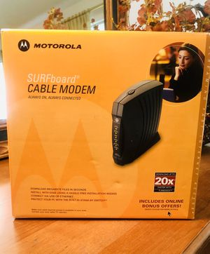 Cable Modem by Motorola for Sale in Houston, TX