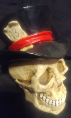 Skull with top hat and #13 for Sale in Amherst, VA