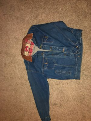 Genuine leather /Jean jacket size L for Sale in Oviedo, FL