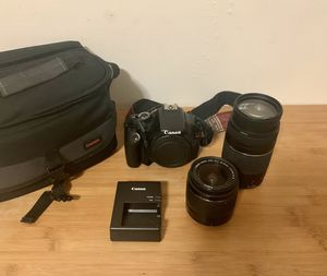 Canon Rebel t3i with two lenses for Sale in Washington, DC
