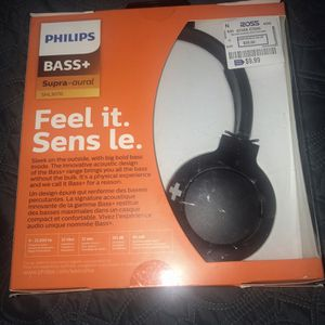 Philips bass+ headphones- never used ! for Sale in Santee, CA