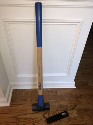 Kobalt American Hickory Sledge Hammer and Truper Tru Splitting Wedge for Sale in Stone Mountain, GA
