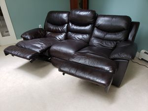Leather Power Reclining Sofa Set $650 OBO for Sale in Bothell, WA