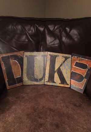 "Decorative themed ""Duke"" letters for Sale in Quincy, IL"