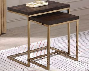 Gold nesting tables for Sale in San Leandro, CA