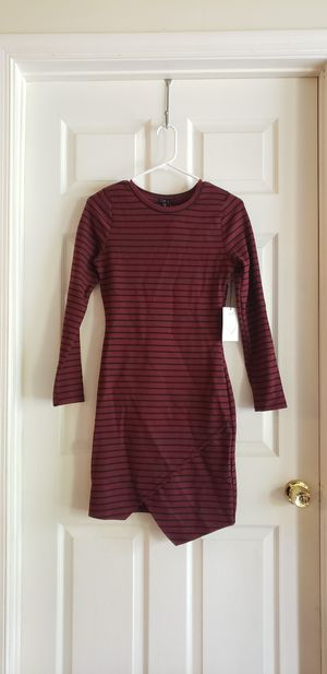 NWT. Iris dress. Maroon with black stripes. Size small for Sale in Franklin, TN