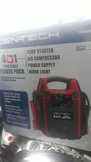 Cen-Tech 4 in 1 jump nox/air compressor/ power supply/ work light for Sale in Seattle, WA