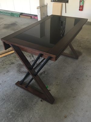 Craftsman Style Glass Top Desk for Sale in San Jose, CA
