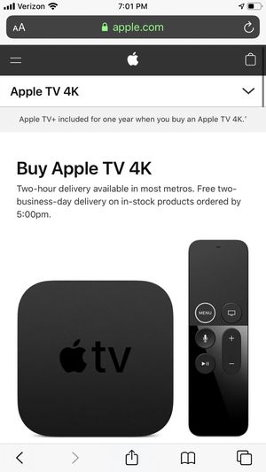 Apple TV for Sale in Gig Harbor, WA