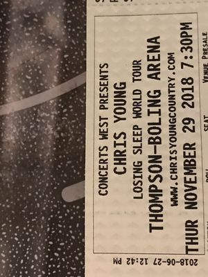 Chris Young tickets for Sale in Knoxville, TN