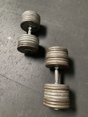 125 pound dumbbells for Sale in Long Beach, CA