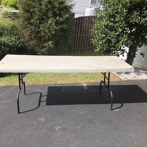 Folding Table 90 x 30 x 30 for $15 - Functional, dresses up nicely for Sale in Alexandria, VA