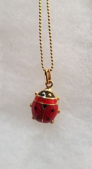 """14k Gold Ladybug Necklace 16"""" chain wt. 2.7g!!! for Sale in Tacoma, WA"""