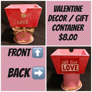 Valentine Decor / candy container for Sale in Barboursville, WV