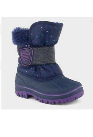 Toddler Girls' Charissa Glitter Faux Fur Winter Boots - Blue - Cat & J for Sale in Louisville, KY
