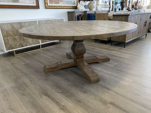 """72"""" Brand New Solid Reclaimed Wood Round Circle Pedestal Trestle Dining Kitchen Table Hand Finished Distressed for Sale in Lake Worth, FL"""