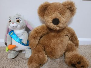 Teddy bear and singing Bunny. Check out my other items! for Sale in West Palm Beach, FL
